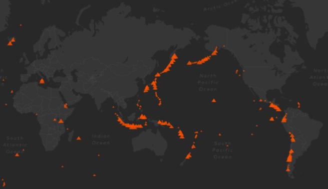 טבעת האש העולמית - הרי געש - טבע - מדע פלוס